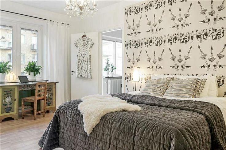 Bedroom at Norra Gubberogatan.