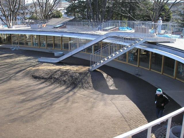 Kinder Garden: Fuji Kindergarten - Slide + Landscaped Roof