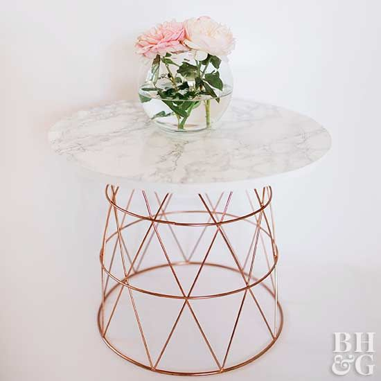 Basket Coffee Table, DIY, table, flowers