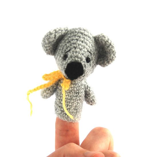 $21.34  KOALA puppet doll, #crochet #finger #puppet, #soft #koala #toy, #unique #toy for #kids, #develop #imagination, #fun #learning, #quiet #play, #eco #toys