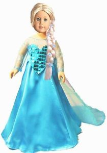 "Elsa doll dress - disney Frozen for 18"" doll"