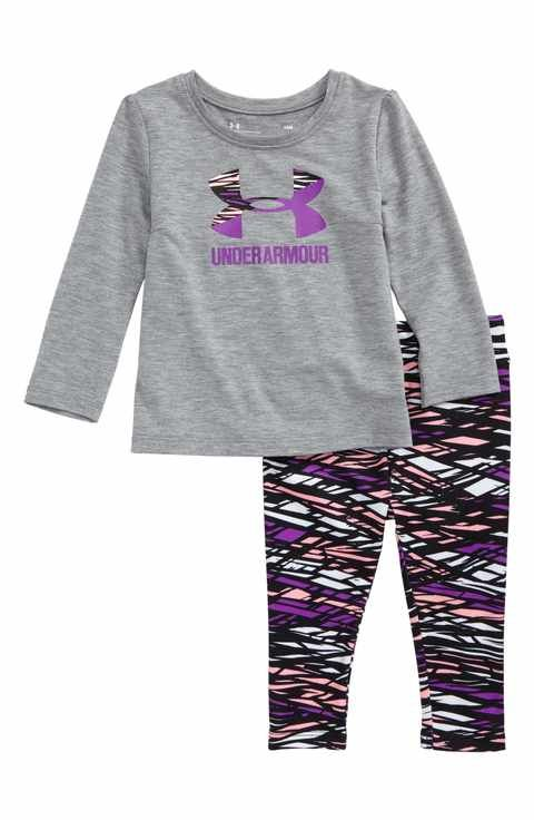 1e3de38d19bfe3 Under Armour Logo Tee & Leggings Set (Baby Girls) | For baby | Baby ...