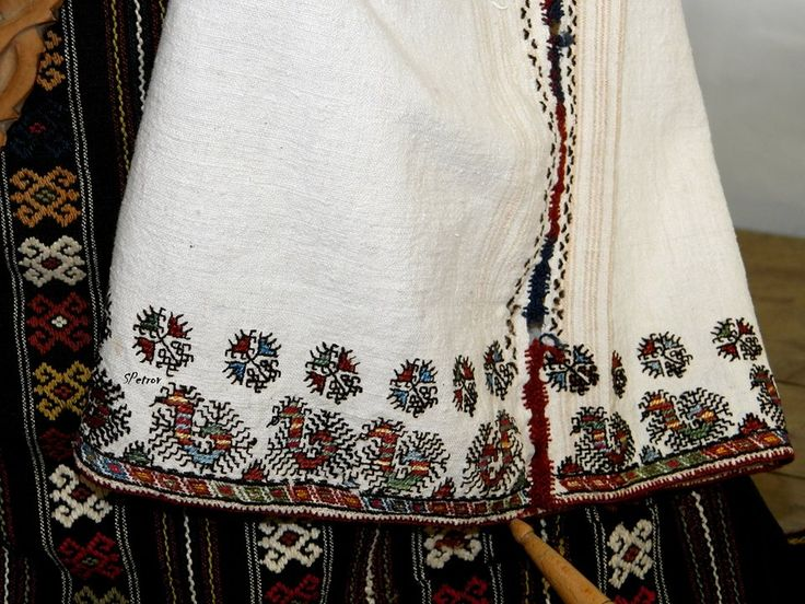Embrodery on a chemise from the village of Markovo, Shumen. BG