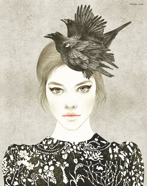 Crows hat by Madame Lolina,