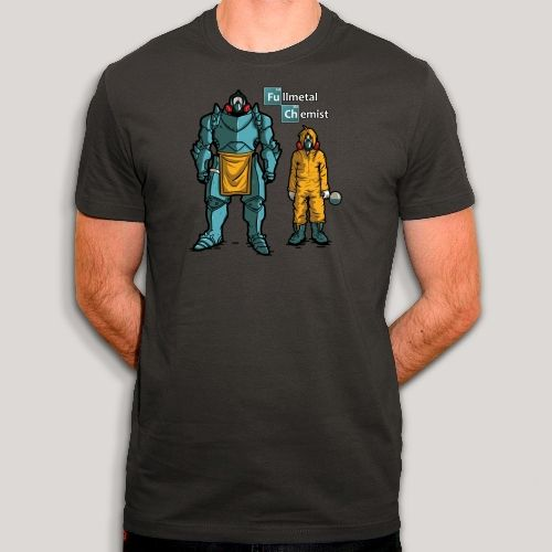 T-shirt Fullmetal Alchemist - Parodie Breaking Bad - Humour