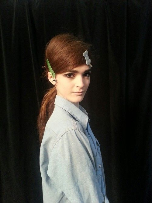 Backstage at Marc Jacobs: Jacobs Muse, Hair Colors, Hair Barret, Hair Makeup, Awkwardest Models, Hair Style, 60S, Fun, Chambray