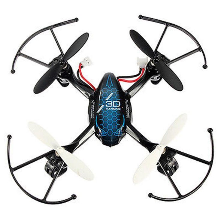 Ufo Aircraft 3d Predator 24ghz 4ch Remote Control Rc 6axis Gyro Mini Quadcopter Blue