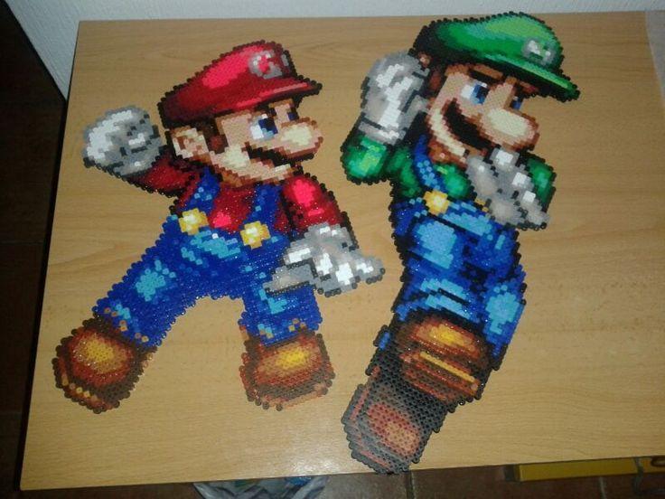 Super Mario Brothers hama perler beads by Jesusclon on deviantART