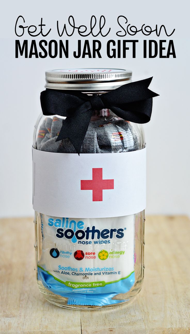 Perfect for the cold and flu season that is upon us - make this cute Get Well Soon Mason Jar Gift.