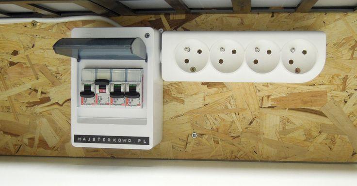 Wyłączniki nadprądowe na ścianie