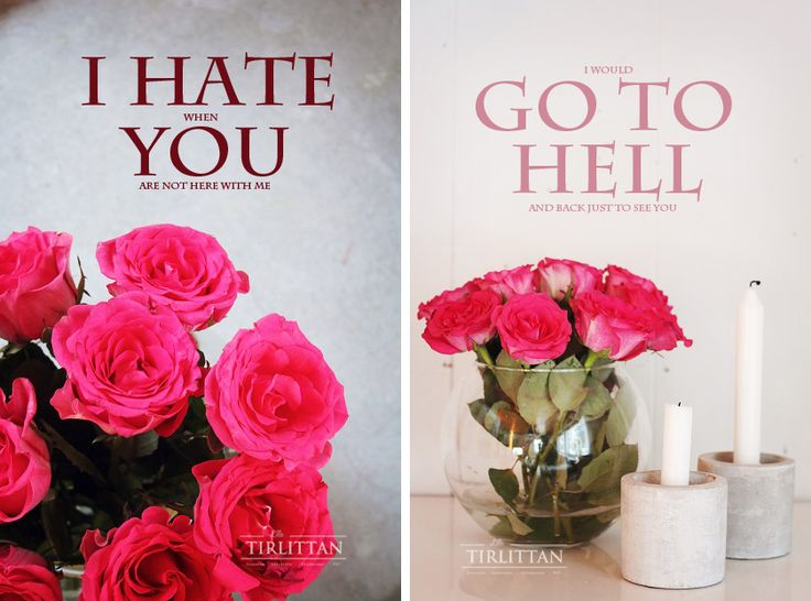 Happy Valentine's Day! by Lilla Tirlittan blogger Katja. Pink roses and white candles. I HATE when YOU are not here with me. I would GO TO HELL and back just to see you.
