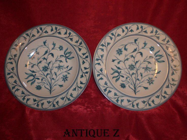 Limoges fine china porcelain, Bernardaud- Ispahan collection, 12 dinner plates, vintage by AntiqueBoutiqueZ on Etsy