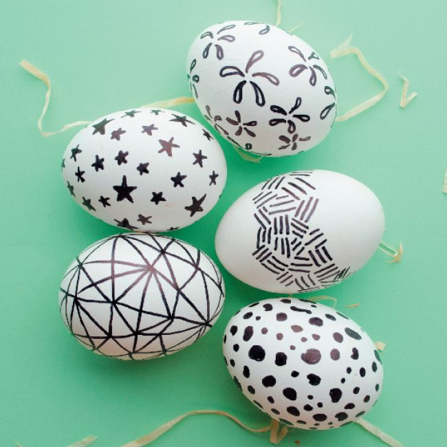 Monochrome eggs #KidsCraft #Easter #SouthAfrica