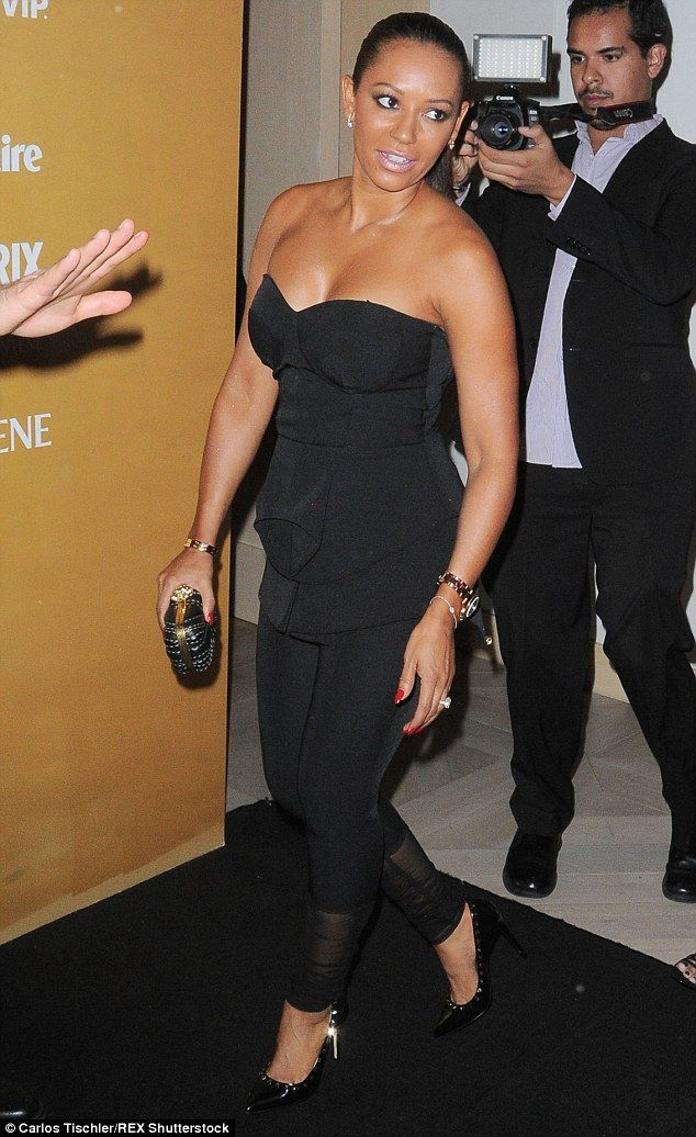 Showing her the ropes: Mel B led her daughter Phoenix onto the red carpet as the pair atte...
