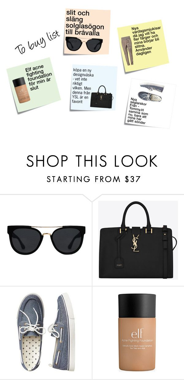 """To buy list"" by jonaz-danail-grentzelius on Polyvore featuring Post-It, Anna Field, Quay, Yves Saint Laurent and Gap"