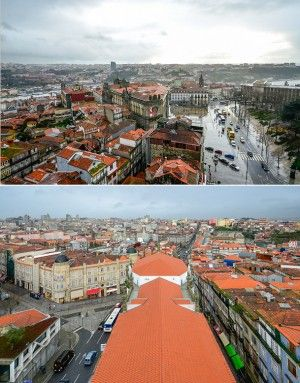The view of Porto from Inside the Clérigos Church's tower