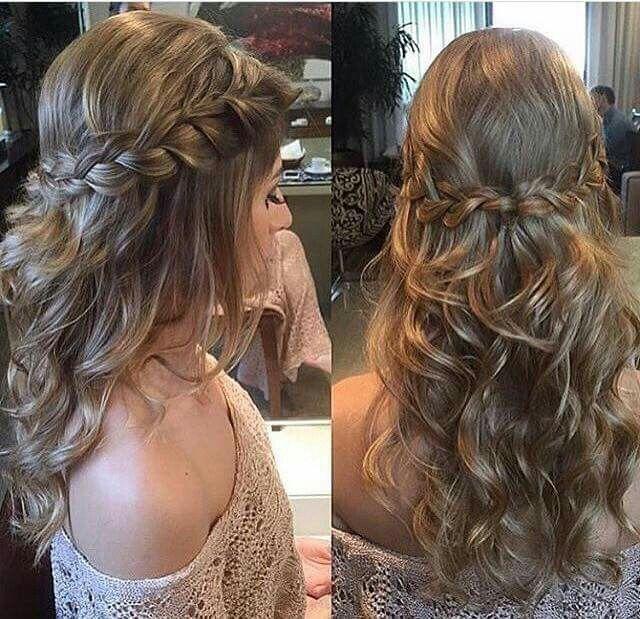 Idéia de penteado para madrinhas. By impression moda festa.