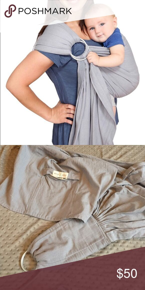 Maya Wrap Lightly Padded Ring Sling Maya Wrap gently padded ring sling in slate color. Size medium. Used only a handful of times! Excellent for keeping baby close and giving mom or dad the ability to do more with their hands! This also has a pocket on the tail! Maya Wrap Accessories
