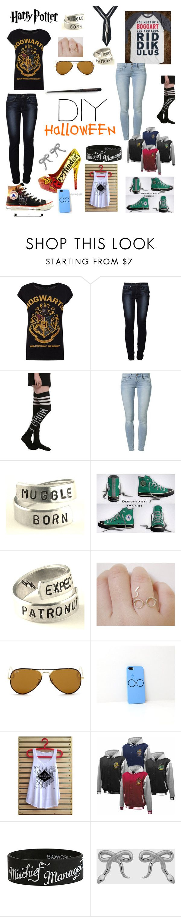 """""""DIY Harry Potter Costume"""" by mormonandinoit ❤ liked on Polyvore featuring Levi's, Calvin Klein Jeans, Converse, Ray-Ban, Samsung, Meadowlark, DIY, harrypotter and halloweencostume"""