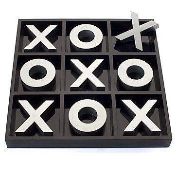 Z Gallerie - Tic Tac Toe Game - Black & Silver http://www.zgallerie.com/p-9580-tic-tac-toe-game-black-silver.aspx