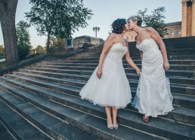 Lesbische bruiloft