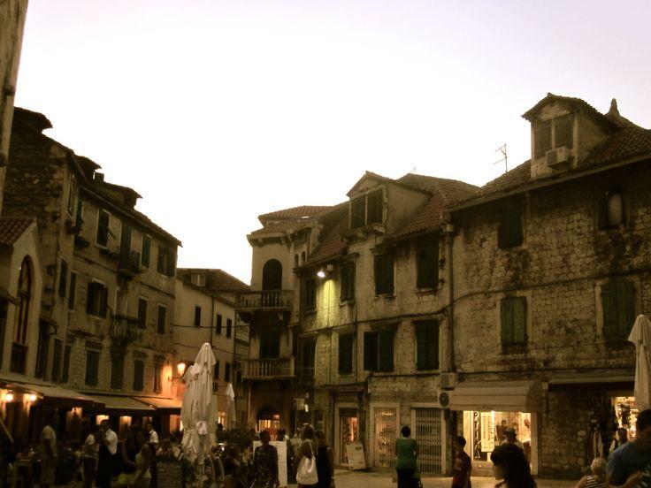Old buildings in Split, Croatia.