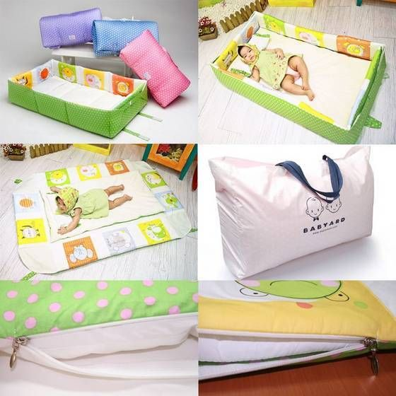 One Touch Portable Baby Bed from Korea