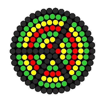 rasta peace fuse bead pattern bead pattern