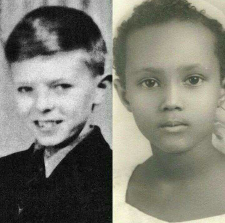 A Young David Bowie and Iman