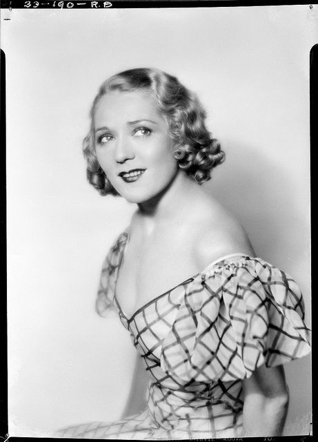Mary Pickford With Shorter Length Hair; She Usually Had Long Tight Curls.