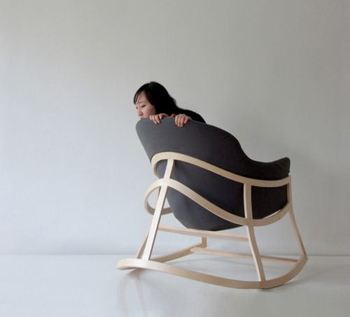 I like rocking chairs whose legs connect in the back. Dancing Chair by Constance Guisset