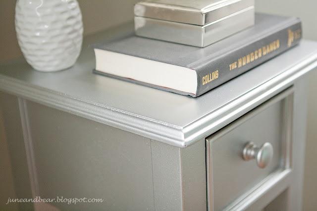 Metallic Spray Paint Furniture Redo Refinishing Pinterest