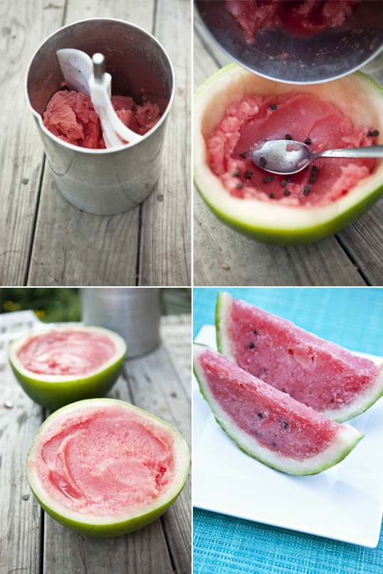 Watermelon Lime Sorbet Slices recipe, memorial day, #bbq #summer