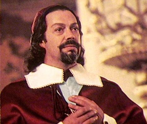 Tim Curry as Cardinal Richelieu in the 1993 3 Musketeers Movie.