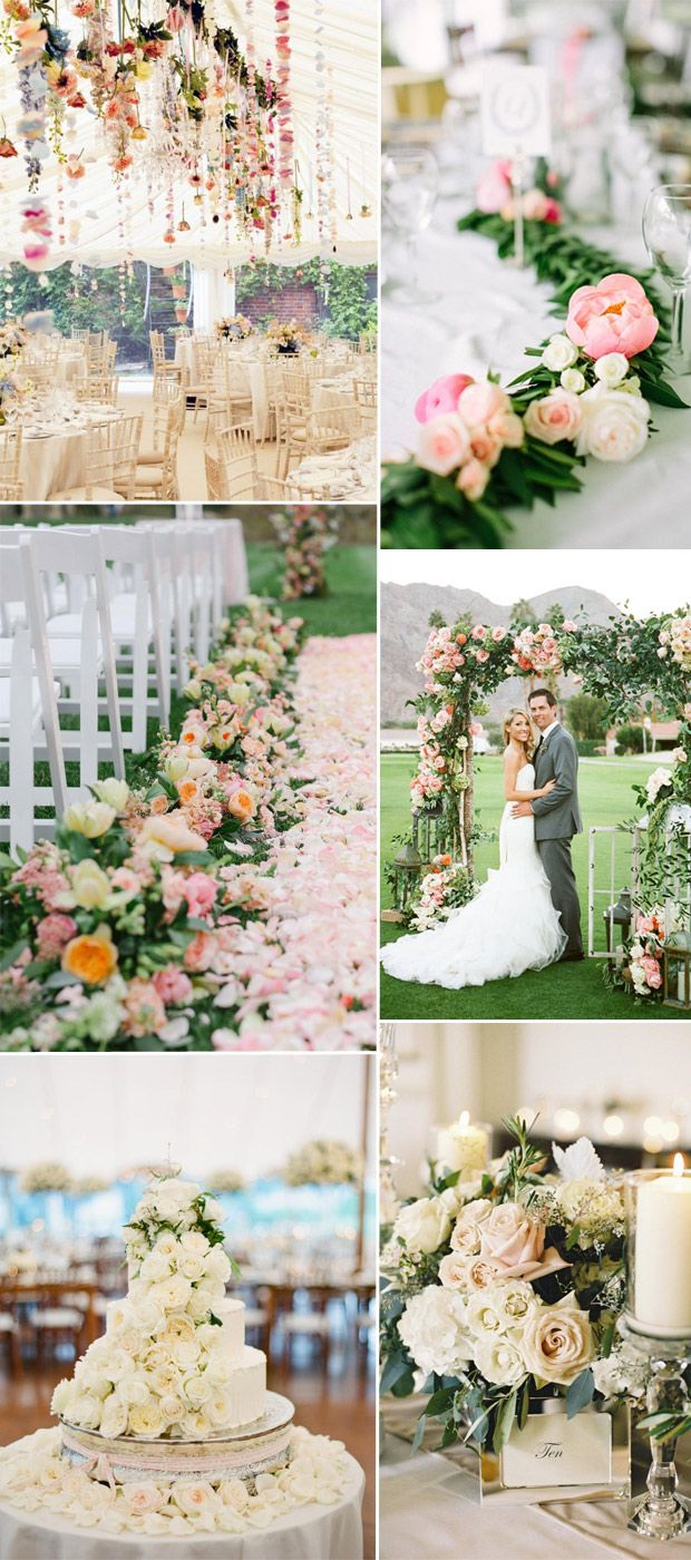 trending flroal themed wedding ideas 2016