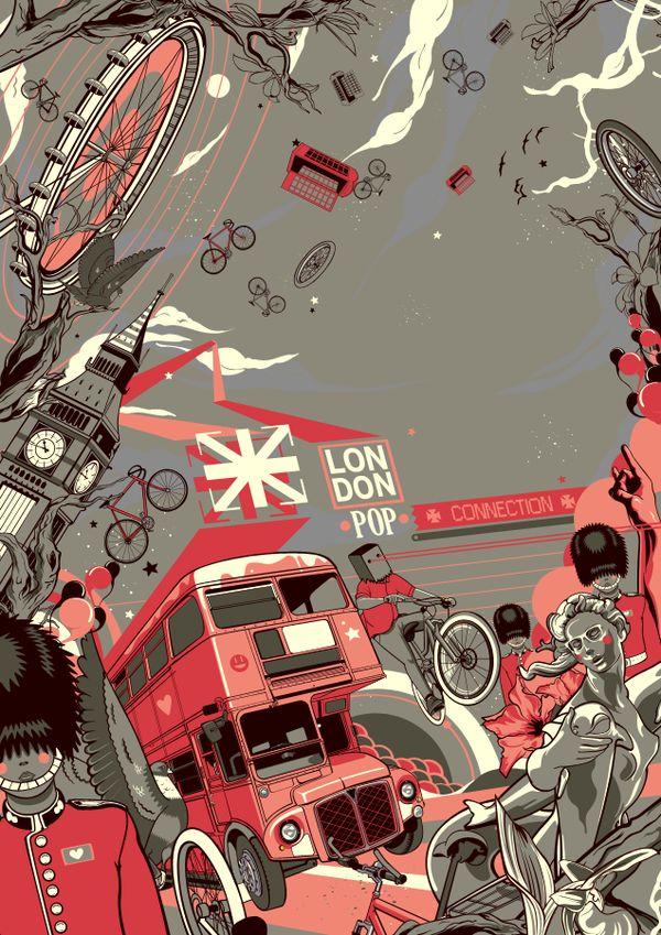 London Pop Connection by Vincent Rhafael Aseo, via Behance