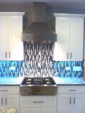 vertical mosaic tile backsplash house pinterest