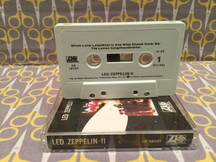 Led Zeppelin II is the second studio album by the English rock band Led Zeppelin, released on 22 October 1969 in the United States and on 31 October 1969 in the United Kingdom on Atlantic Records.  Led Zeppelin II by Led Zeppelin  Cover is VG+ Tape is VG+ and plays great  Vintage cassettes are never perfect and may have some slight audio imperfections. If you have any issues return it for a refund.  Visit my shop for more great vintage items:  7 Record Boxes - http://etsy.me/1Q...