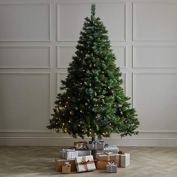 7ft Pre Lit Deluxe Green Pine Christmas Tree Dunelm Pine Christmas Tree Christmas Tree Fir Christmas Tree