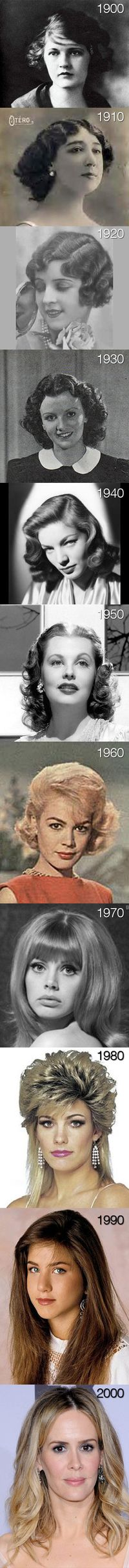 The evolution of hair after the 60's it just got worse... and worse... and worse...