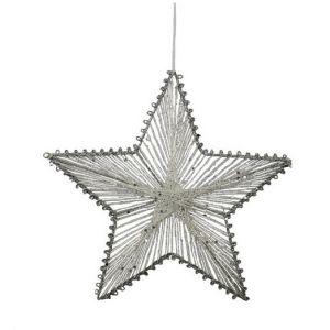 Hvězda z provázků 20 cm, bílá