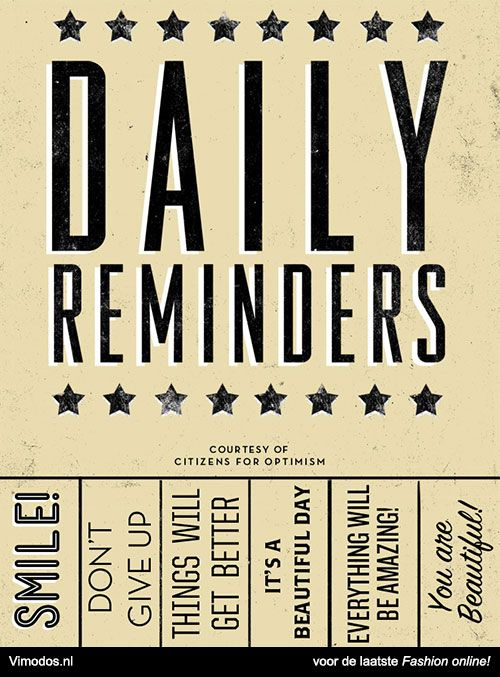 Daily reminders. www.vimodos.nl