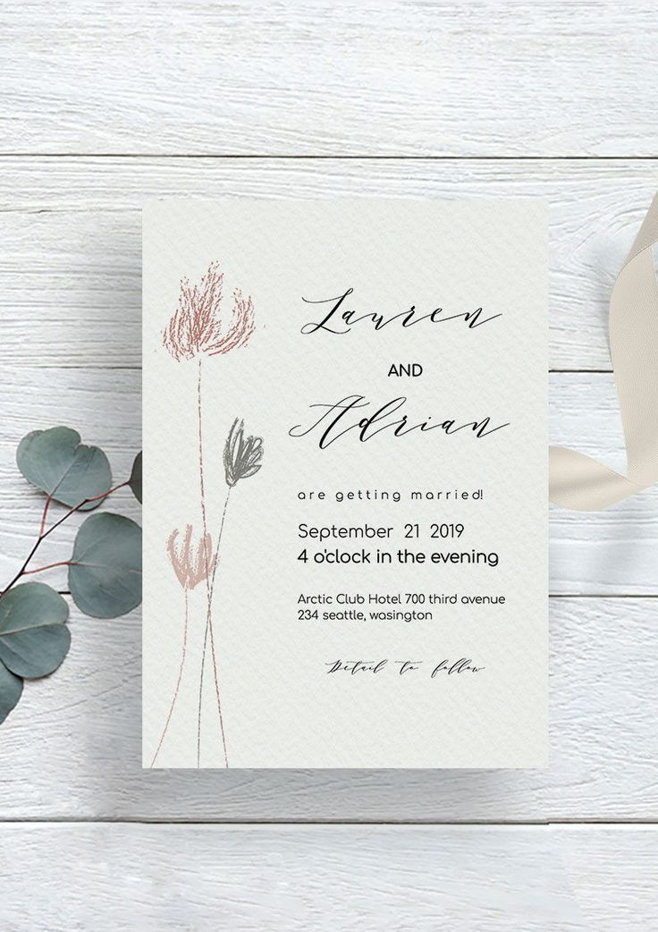 Modern Wedding Invitation Fully Editable And You Can Try Out The Demo Link To Adjust Custom Wedding Invitations Modern Wedding Invitations Wedding Invitations