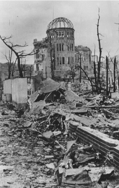 The Hiroshima Genbaku Dome after the bombing