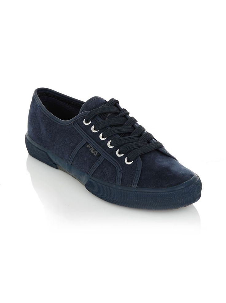 Town mono suede sneakers Navy