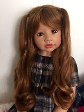 Шедевр кукла wynona рыжеватая блондинка с карими глазами от monika levenig