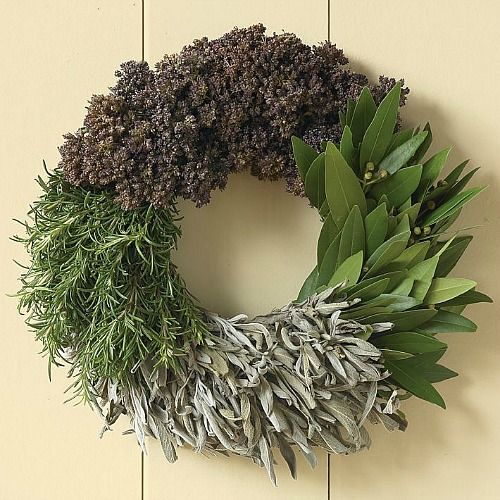 Natural Herb Christmas Wreath