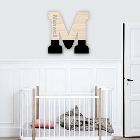Our custom name letters are a perfect finishing touch to any bedroom or nursery! Available at www.hexi.com.au from $26 and svwn better they are made in Australia! #nursery #nurseryinspo #bedroom #baby #babyroom #expecting #pregnant #child #inspo #babyroominspo #maxwell #lettee #art #decoration #style #love #cute