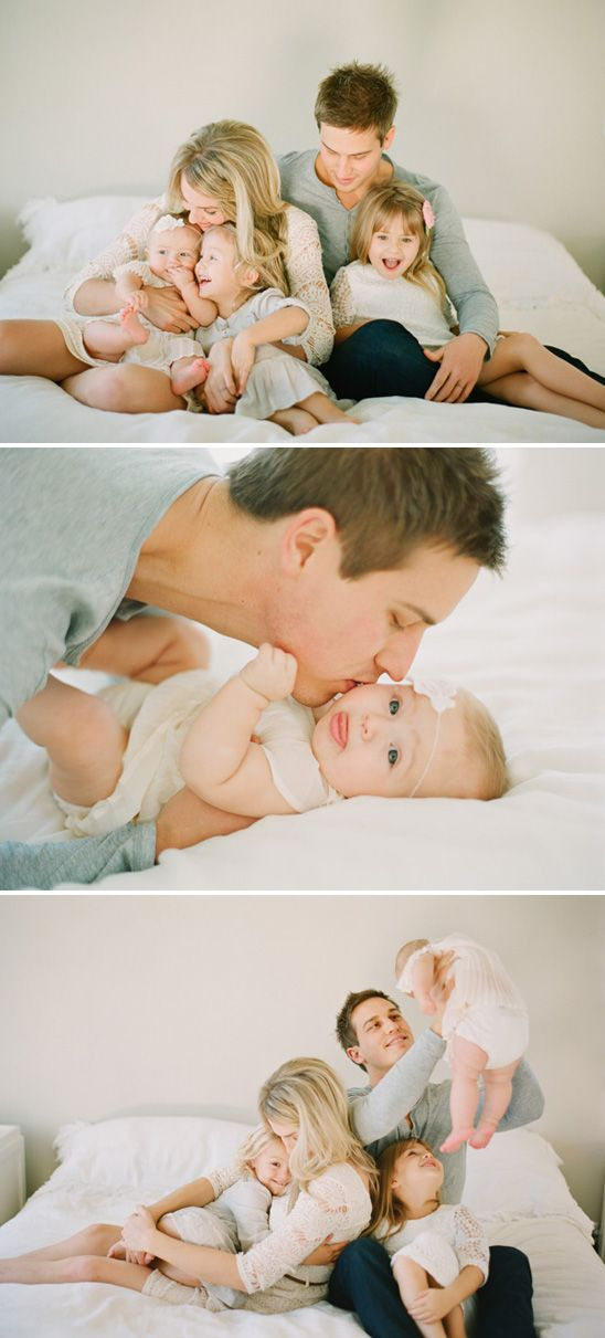 Beautiful, light-filled family session