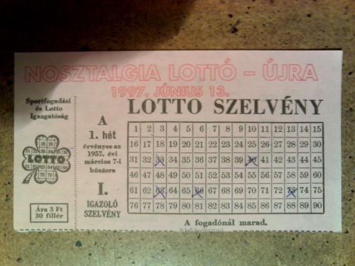 a gépi lottó előtt...